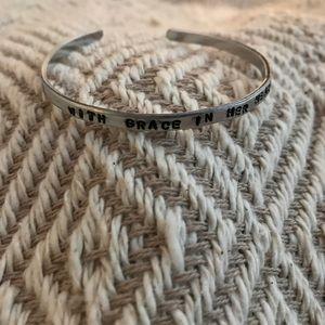 Skinny mantra bracelet